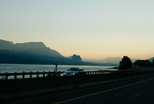 The Gorge a little after dawn, heading east