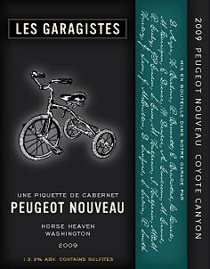 Peugeot Nouveau 2009 label