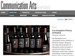 Les Garagistes packaging featured in Communication Arts
